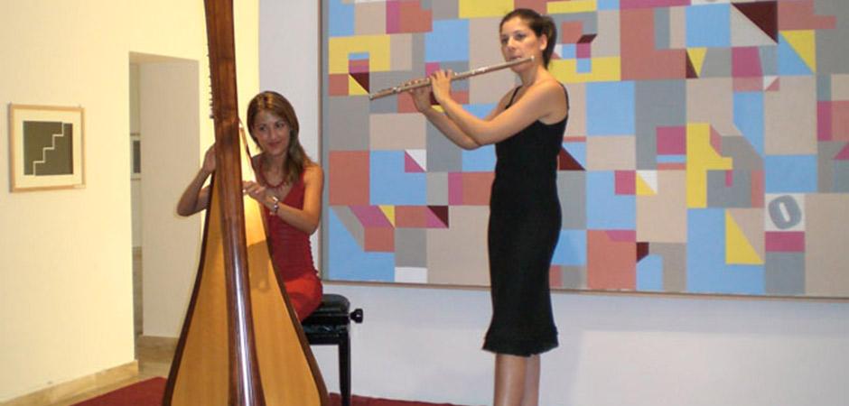 Arpa e flauto