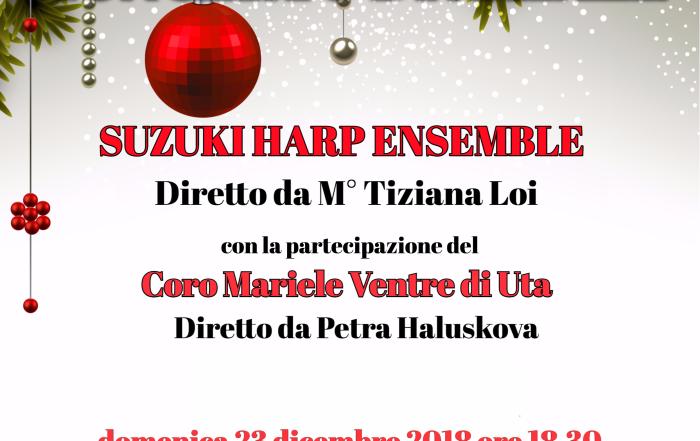 Concerto di Natale del Suzuki Harp Ensemble- 23 dicembre ore 18.30 Uta