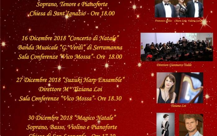 Concerto Suzuki Harp Ensemble, 27 dicembre h. 18.30 Serramanna