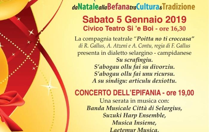 Concerto dell'Epifania- Teatro Sì E Boi Selargius 5 gennaio 2019 h. 19